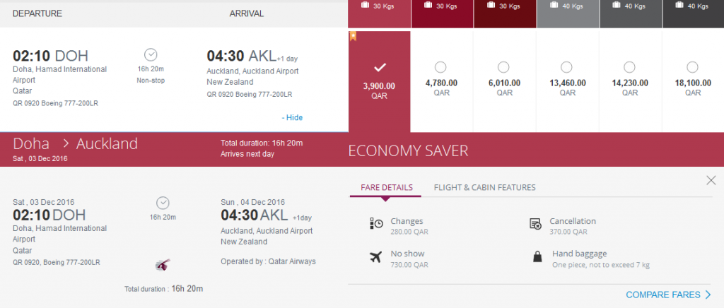 Doha-Auckland-Qatar-Airways