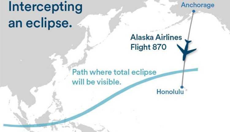 Pentru a intercepta eclipsa de soare, Alaska Airlines îşi ajustează planul de zbor