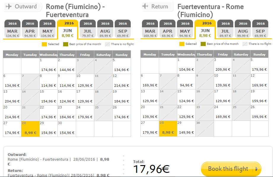 Oferta Vueling la 9 EURO