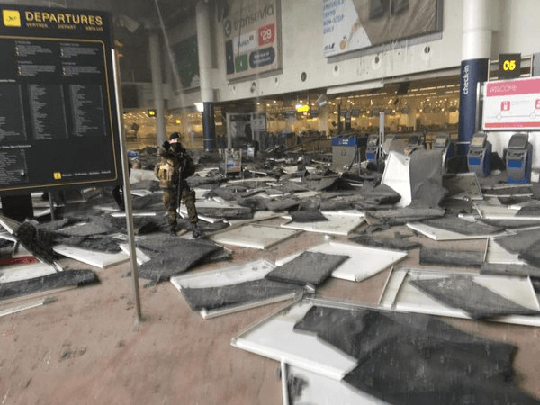 Airport-Brussels explosions