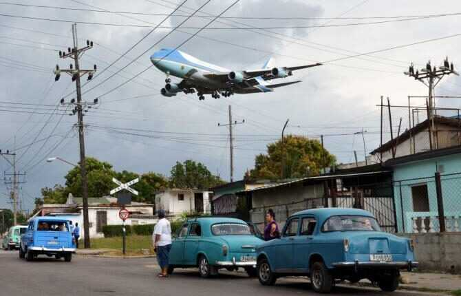 VIDEO: Boeing 747 Air Force One a aterizat în Cuba