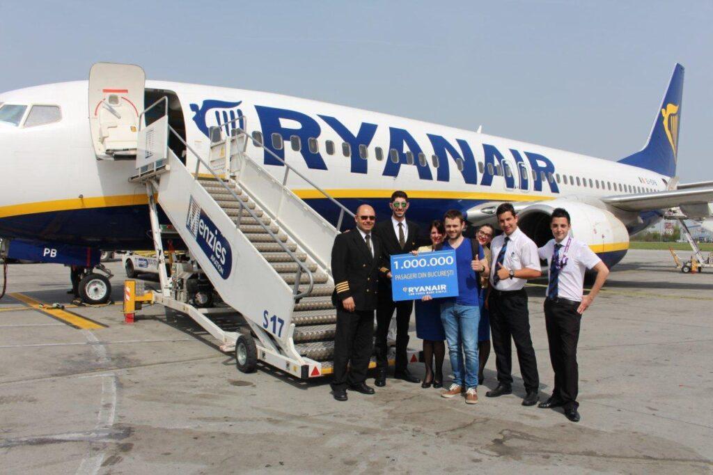 NO ONE million ryanair passengers