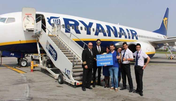 Ryanair a transportat 1 milion de pasageri de pe Aeroportul București