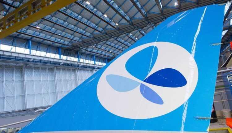 Primul Airbus A330-300 French Blue pe linia de asamblare
