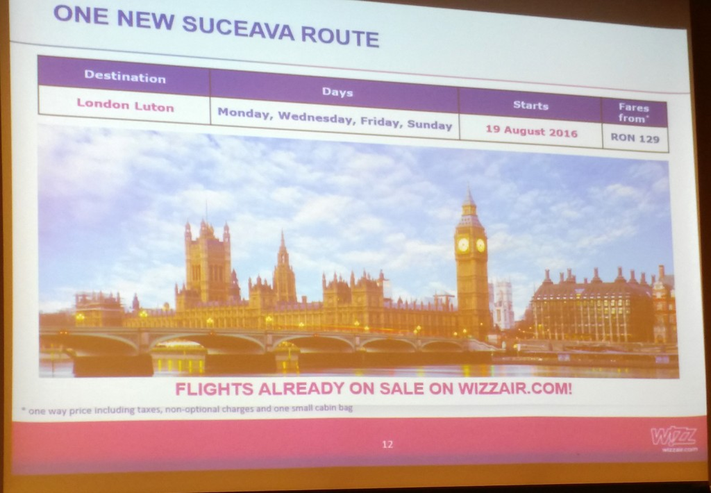 Suceava - London Luton with Wizz Air