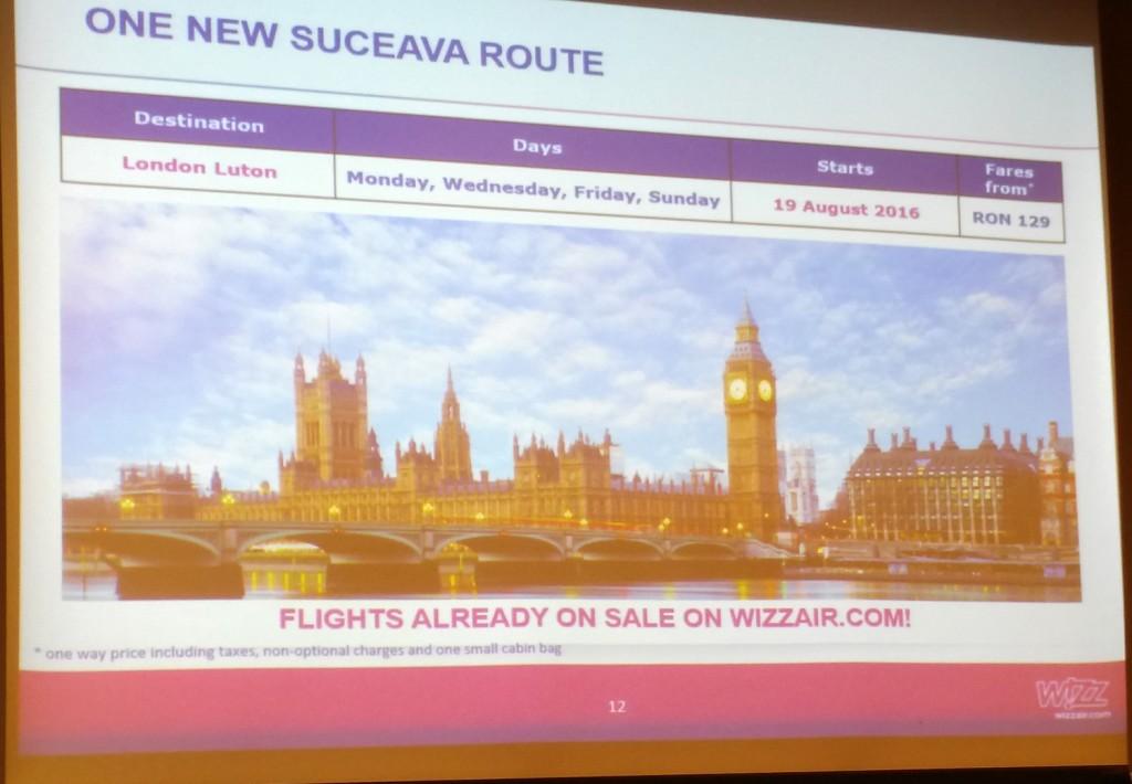 Suceava - Londra Luton cu Wizz Air