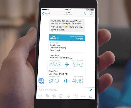 KLM comunică informaţii despre zboruri prin intermediul Facebook Messenger
