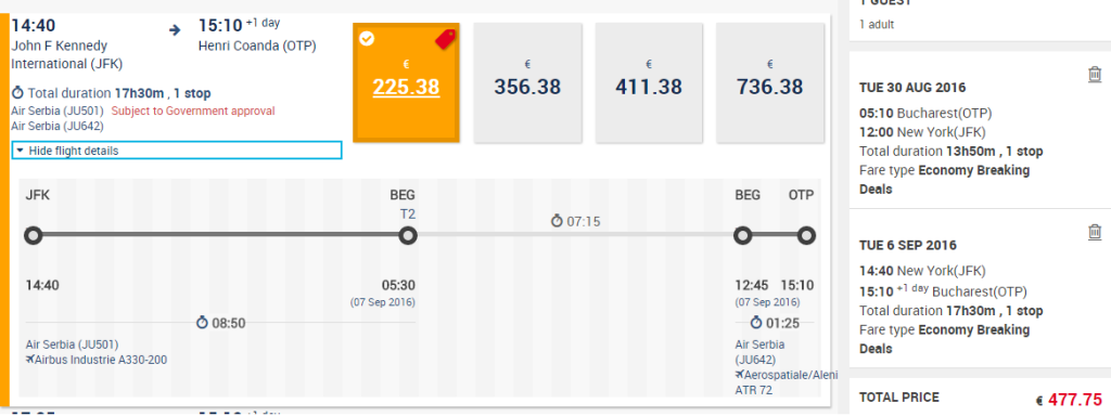 New-York-Bucuresti-Air-Serbia
