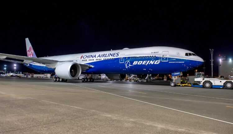 China Airlines a recepţionat primului Boeing 777-300ER co-branded