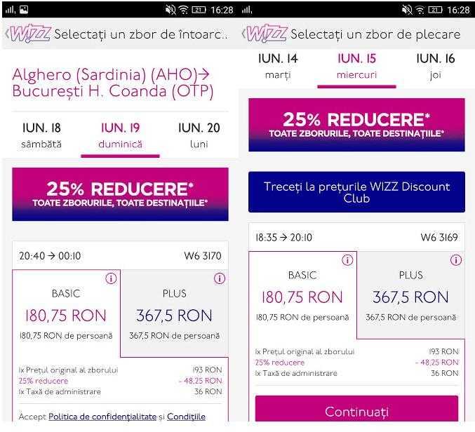 Bucuresti - Alghero - Oferta Wizz Air
