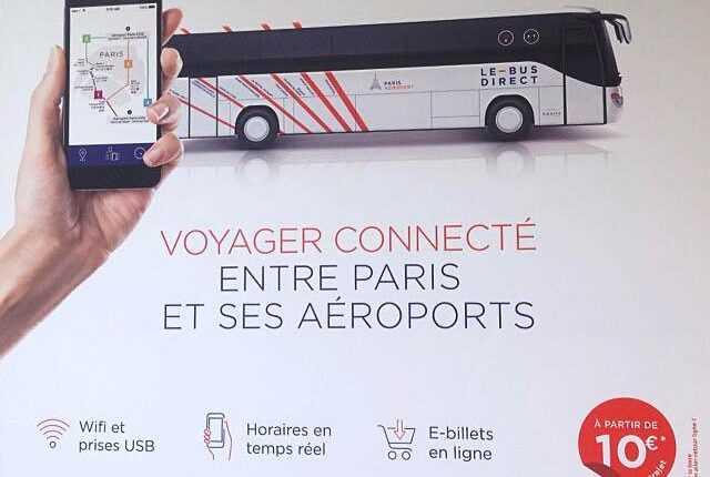 Le Bus Direct leagă Paris de aeroporturile Charles de Gaulle şi Orly