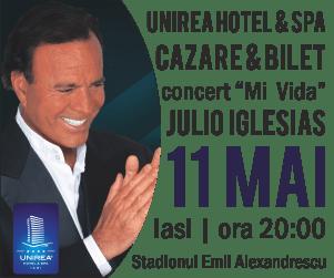 Concert Julio Iglesias la Iaşi (11 mai 2016), al 11-lea motiv să mergeţi în capitala Moldovei