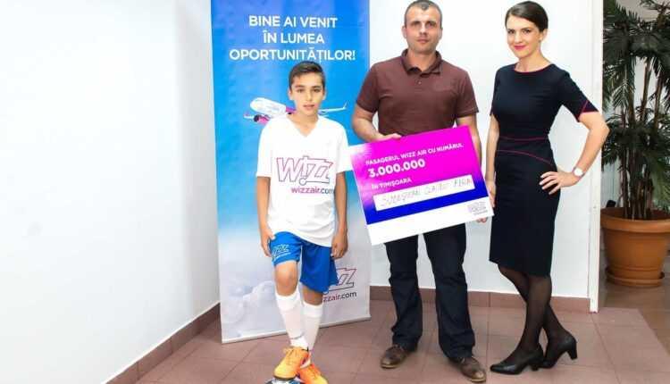Wizz Air: 3 milioane de pasageri transportaţi din/spre Timişoara