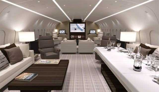 Boeing 787-8 Business Jet la interior (Foto)