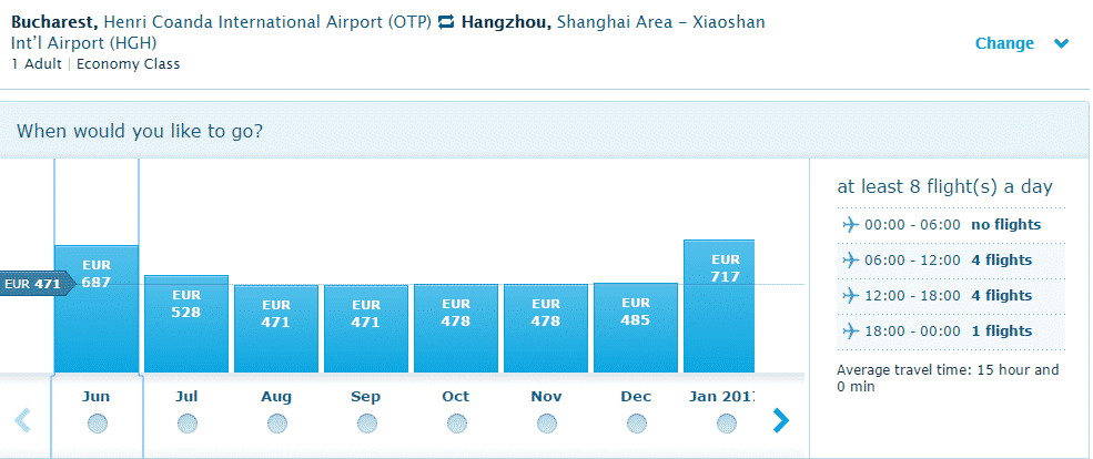 Bucuresti-Hangzhou-KLM