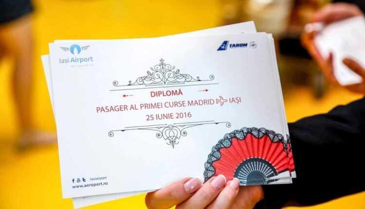 Inaugurare Iasi-Madrid cu TAROM, din 25 iunie