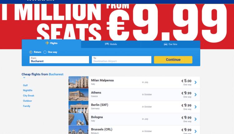 [Oferta Ryanair] 1 milion de bilete de la 10 EURO