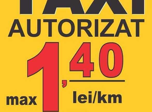 Taxiuri cu tarif de 1.40 lei/km la Aeroportul Henri Coandă