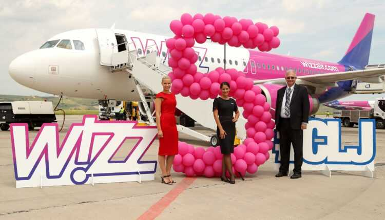 A 5-a aeronavă Wizz Air la Cluj-Napoca