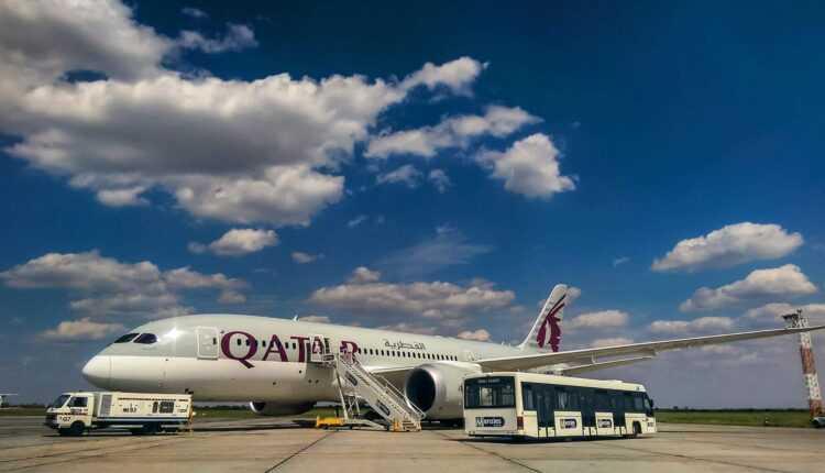 Boeing 787 Qatar Airways la Aeroportul Otopeni, Bucureşti