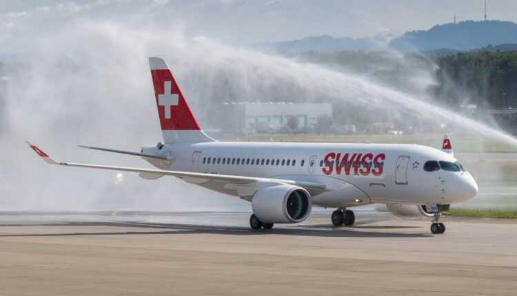 Primul Bombardier CS100 SWISS în serviciul comercial