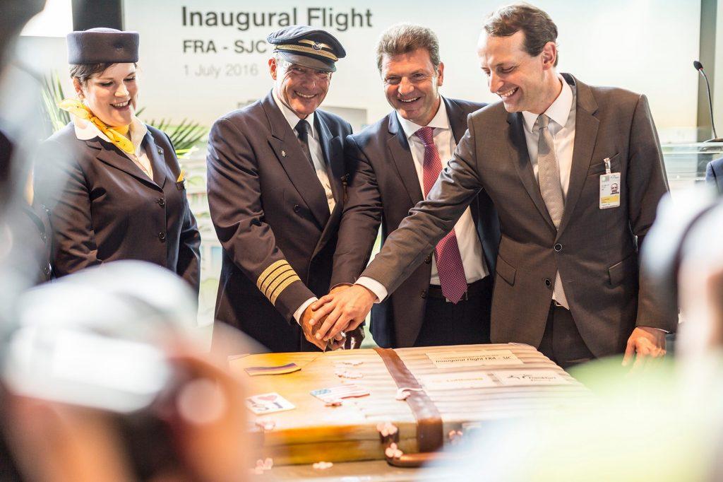 Франкфурт-на-Сан-Хосе-Lufthansa открытие