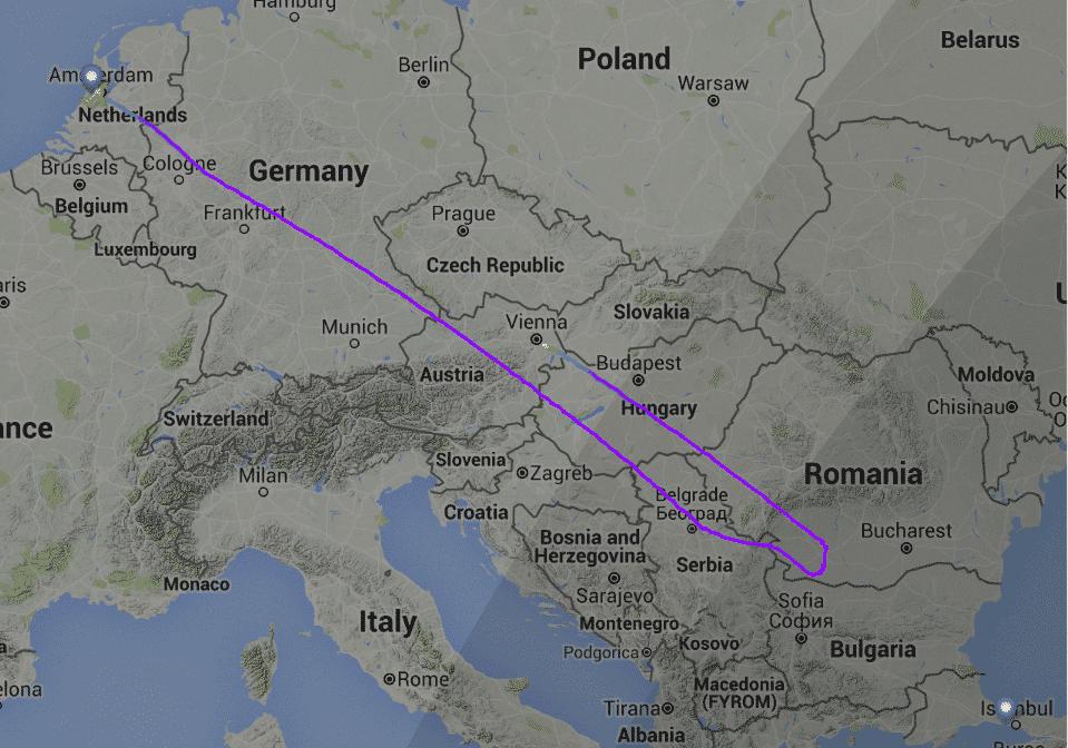 Zbor-KLM-rerutat-Viena