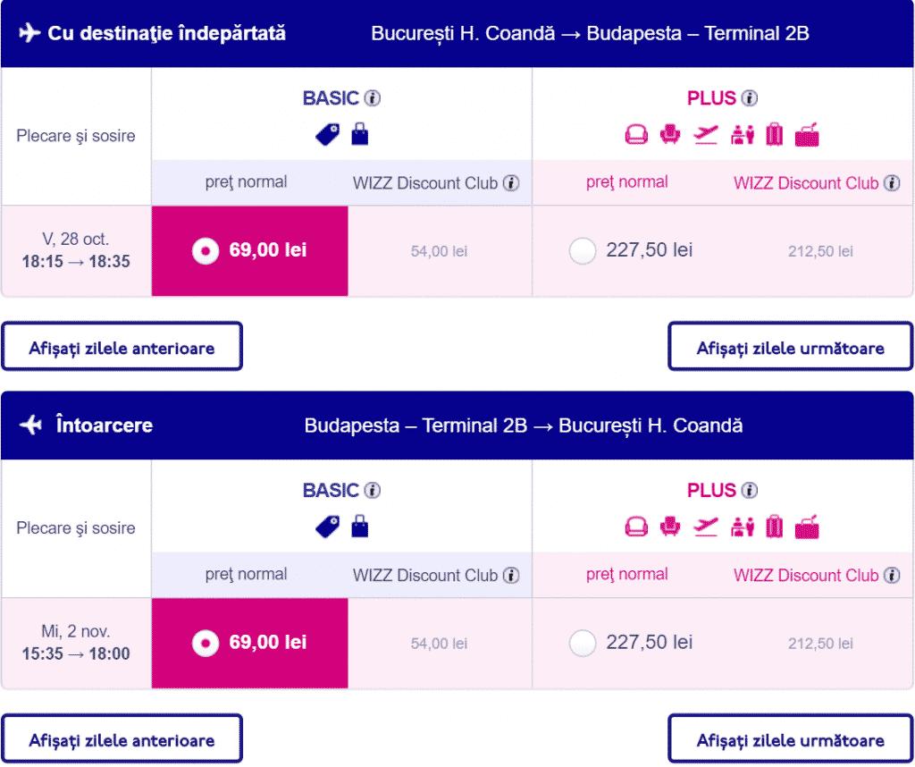 Bucuresti-Budapesta-69-lei-Wizz-Air