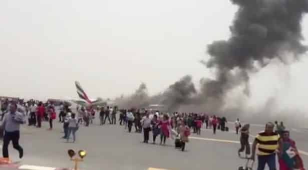 Emirates-plane-crash video evacuation