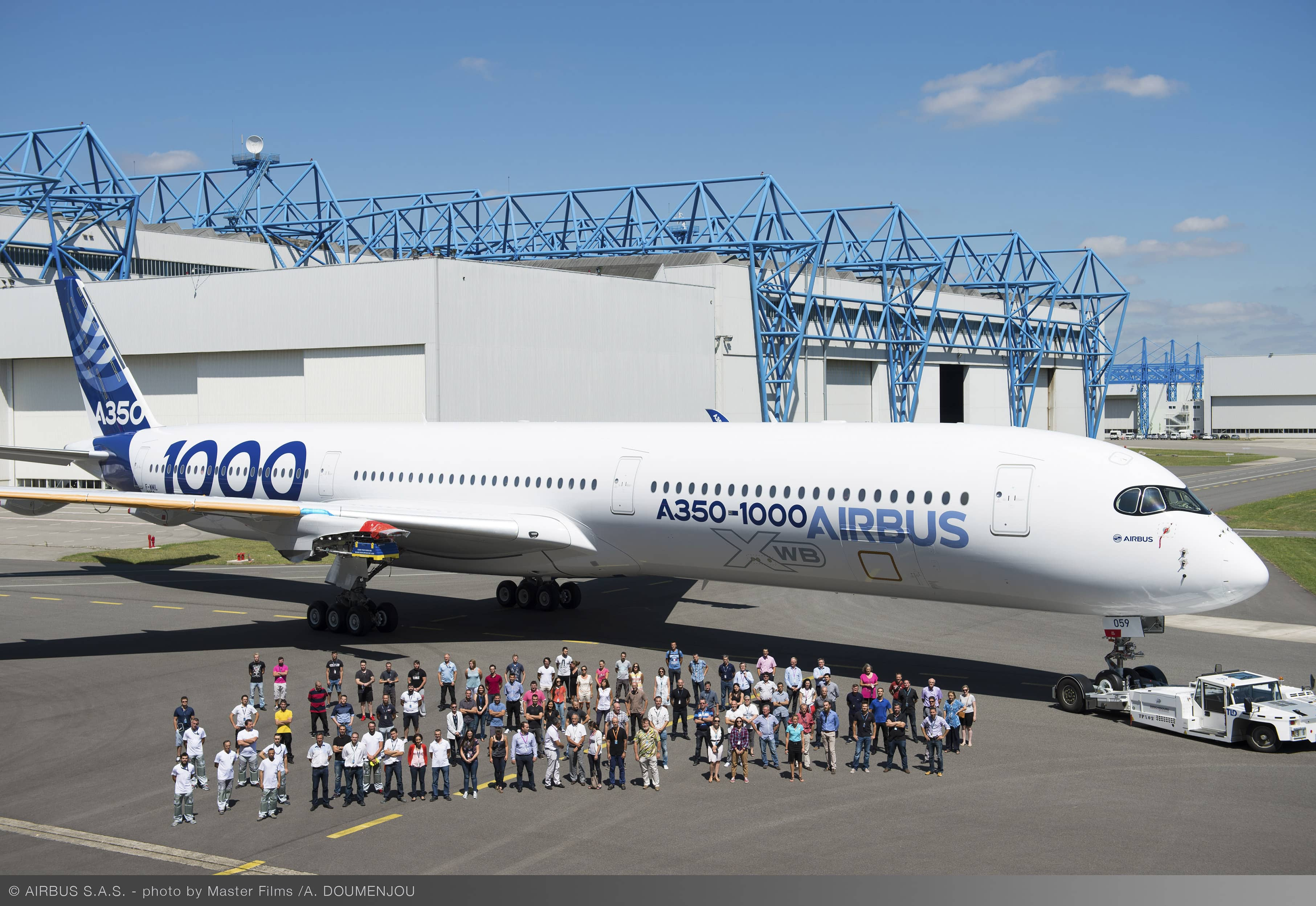 First_A350-1000_rolls_out_of_paintshop