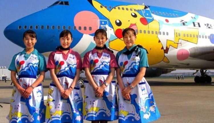 Pokemon Jets All Nippon Airways și Pikachu la înălțime
