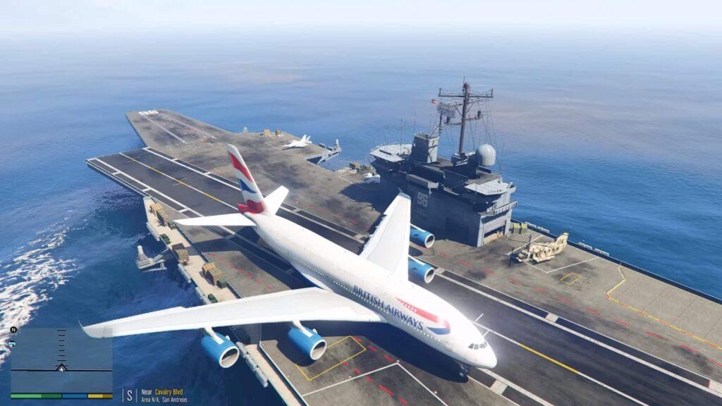 Uçak gemisinde Airbus A380