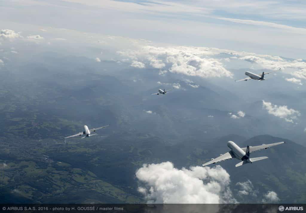 Familia Airbus in zbor
