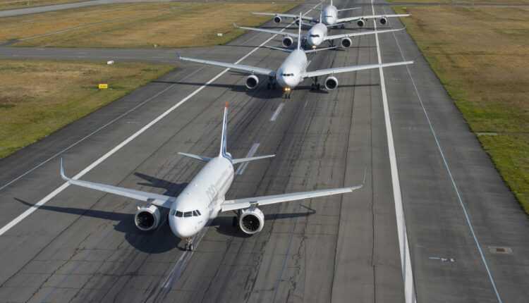 (Video) Airbus innovation: avioanele Airbus au zburat în familie