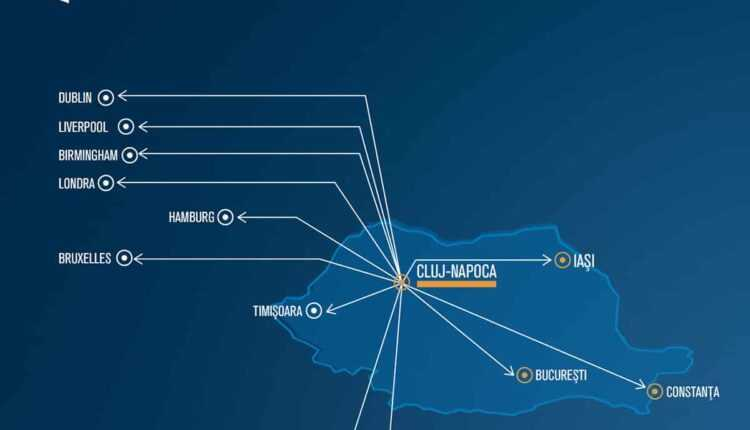 Rute noi Blue Air din Cluj-Napoca: Hamburg, Londra Luton, Larnaca și Nisa