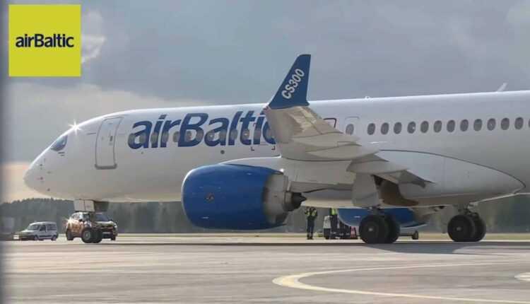Bombardier CS300 va opera zboruri de test alături de airBaltic