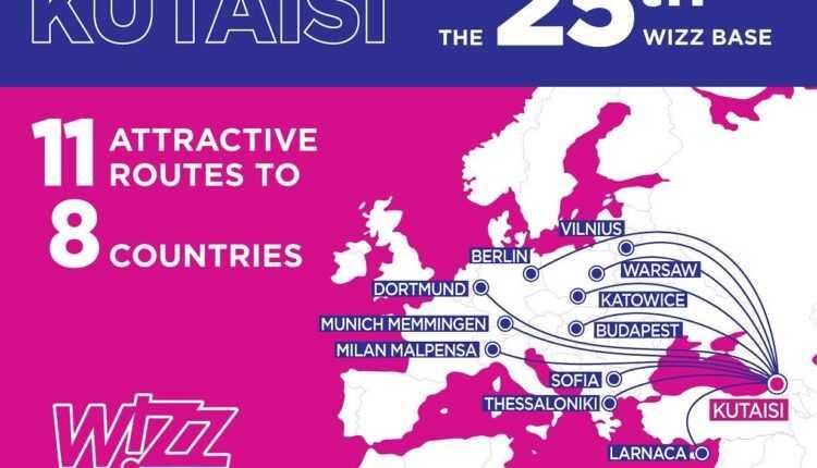 A 25-a bază Wizz Air a fost deschisă la Kutaisi, Georgia