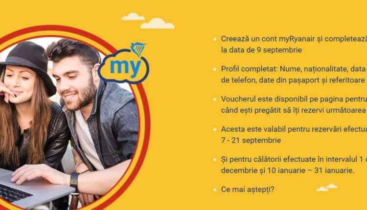 [Oferta Ryanair] myRyanair – înregistrează-te și economisește 10 EURO