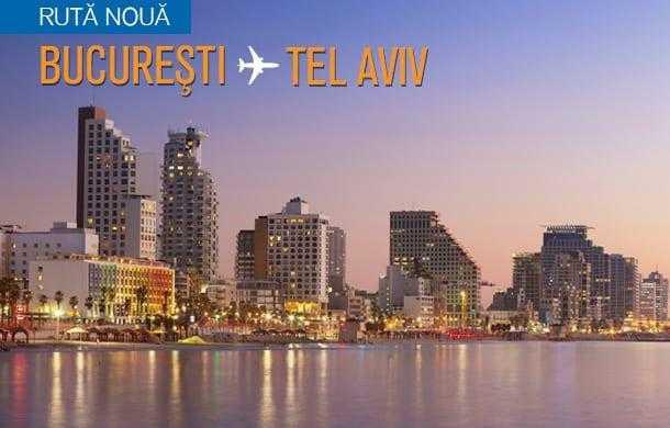 București – Tel Aviv cu Blue Air, din 12 ianuarie 2017