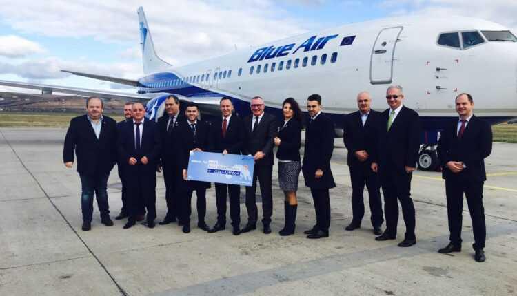 Blue Air a inaugurat baza de la Cluj, a 4-a din România