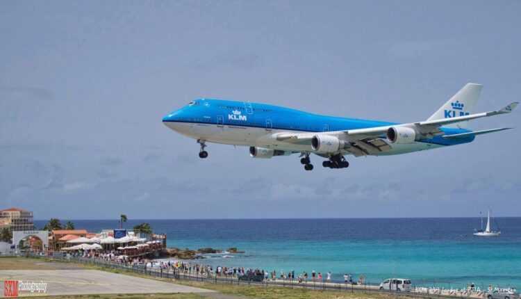 KLM va opera ultimul zbor cu Boeing 747-400 în St. Maarten