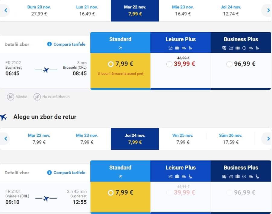 Bucarest Bruxelles 16-euro