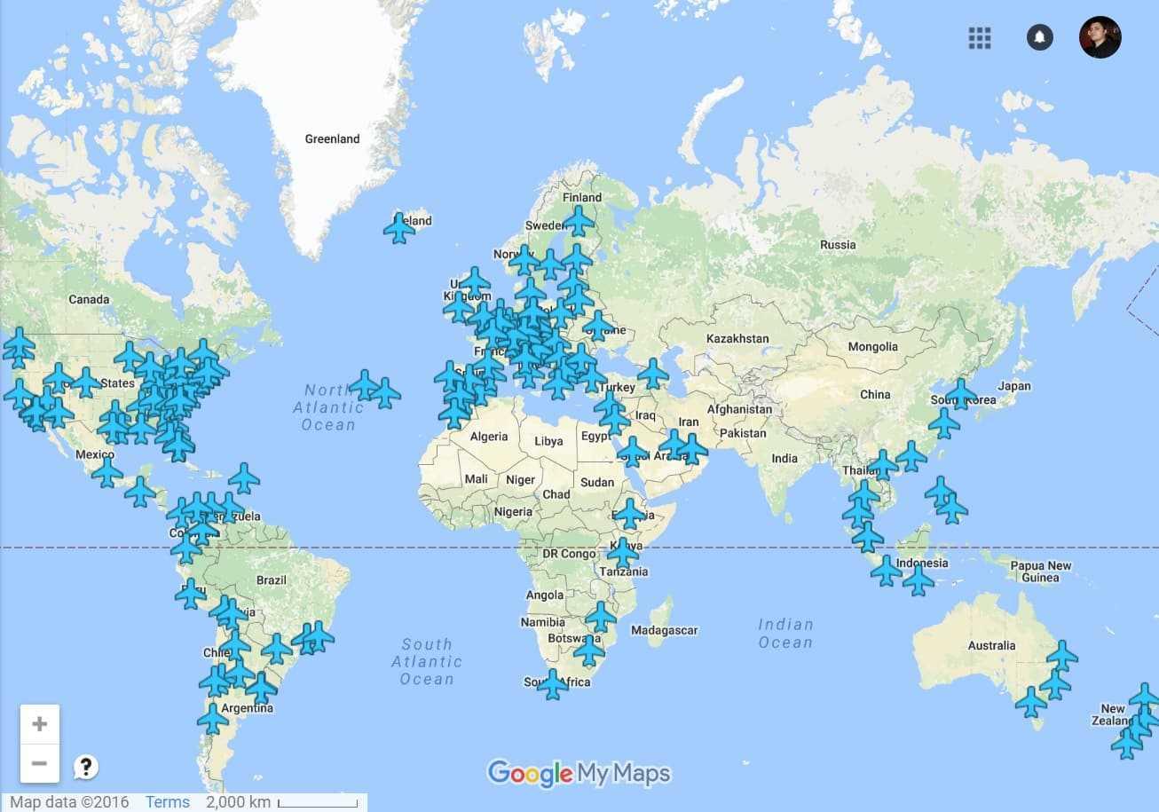 Harta Interactivă Cu Parolele Rețelelor Wifi Din Aeroporturi