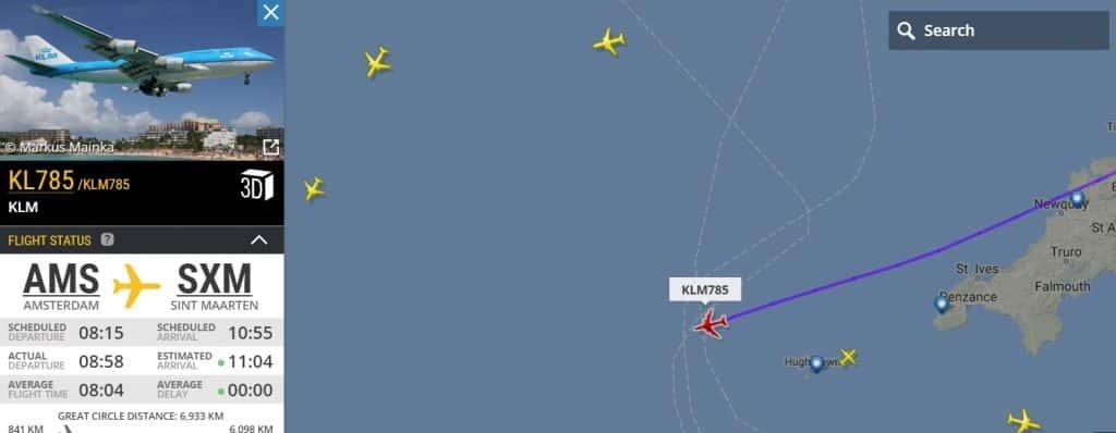 last-flight-boeing-747-klm St Maarten