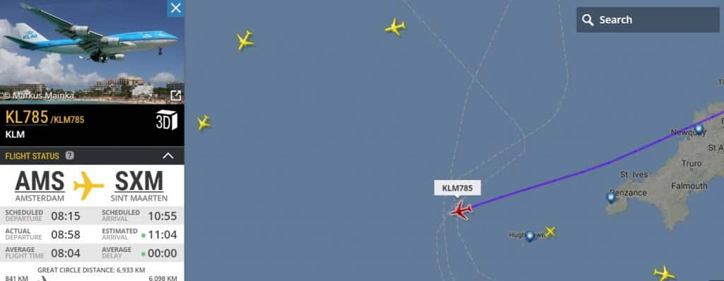 последний рейс-боинг-747-клм Сент-Маартен