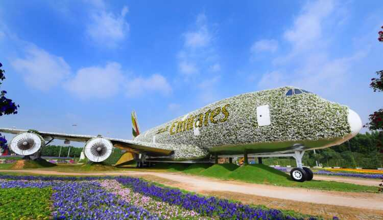 Airbus a380-emirates-flowers