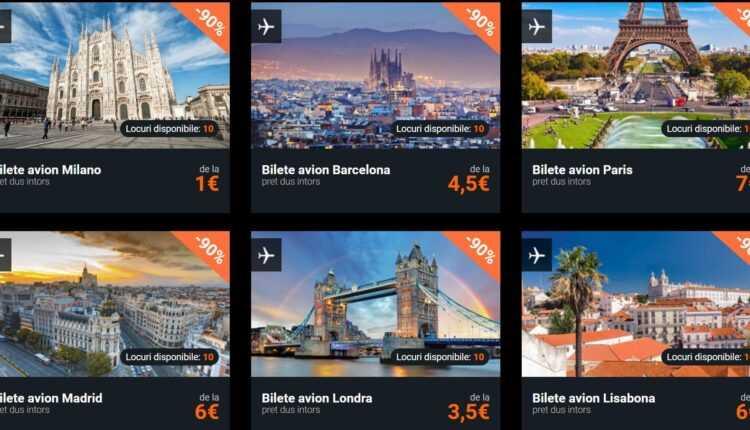 Black Friday Turism 2016: Bilete de avion la 1 EURO pentru Milano, Lisabona la 6 EURO, Barcelona la 4.5 EURO
