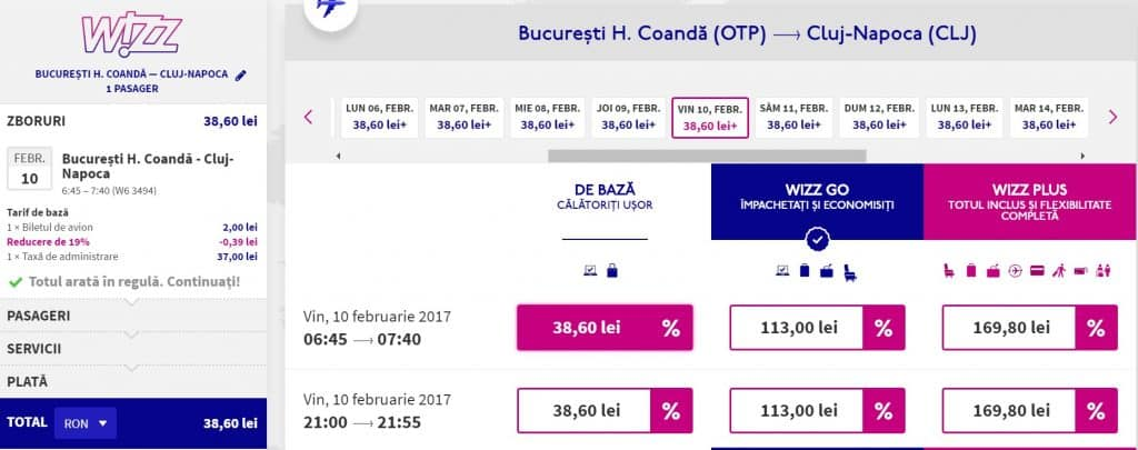 bucuresti-cluj-38.6-lei-Wizz-Air