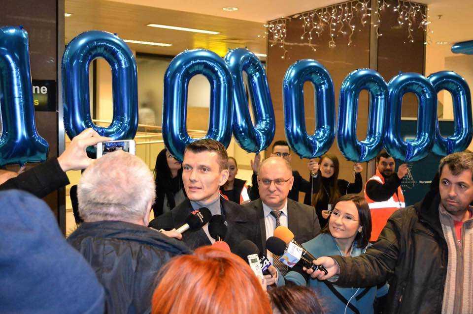 10 millones de pasajeros-Bucarest aeropuerto