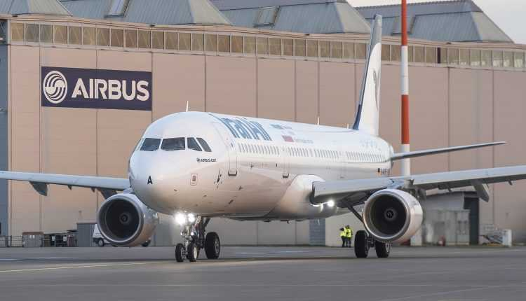 Airbus A321 Iran Air в Гамбург